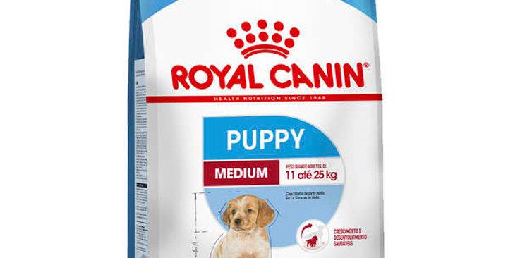 Ração Royal Canin Medium Jr para Cães Filhotes de Raças Médias de 2 a 12 Meses