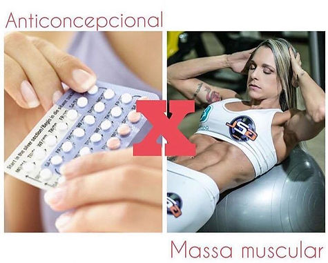 anticoncepecional e massa muscular