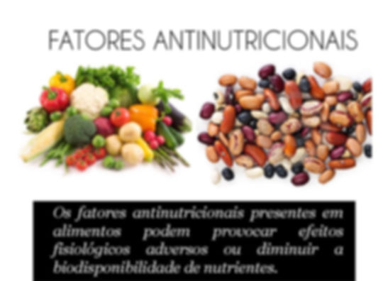 Fatores antinutricionais