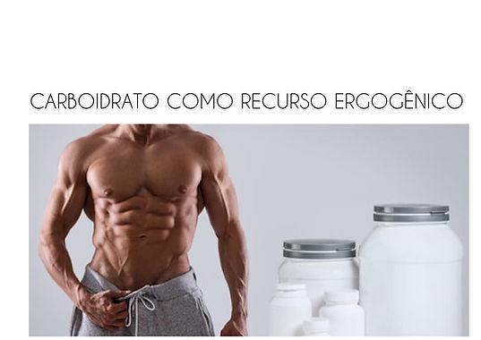 Carboidrato como recurso ergogênico
