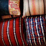 Selection of fabrics and pillows for king bedroom and double queen bedroom, Bear Trap Cabin~