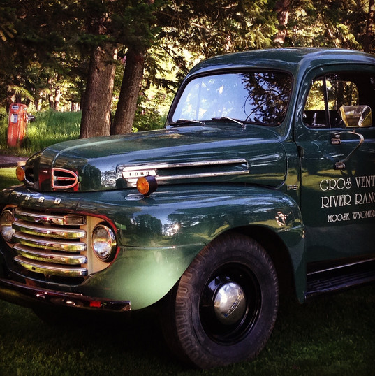 Vintage truck at Gros Ventre River Ranch~