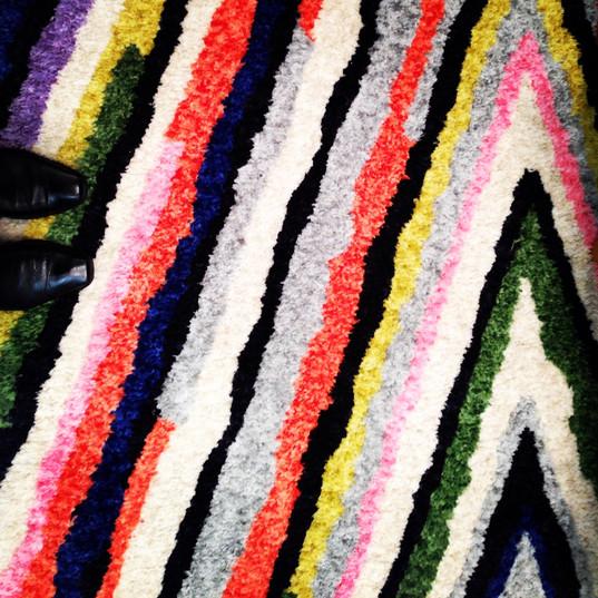 colorful geometric rug detail~