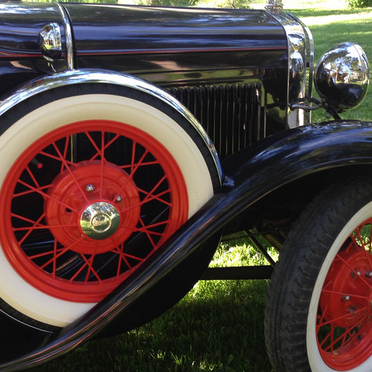Vintage cars at Gros Ventre River Ranch, WYO~