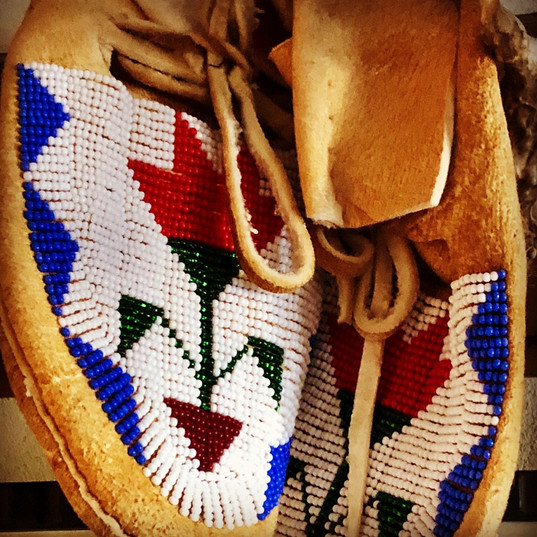 Historic beaded moccasins~