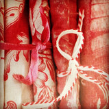 design project/fabric collection of red textiles~