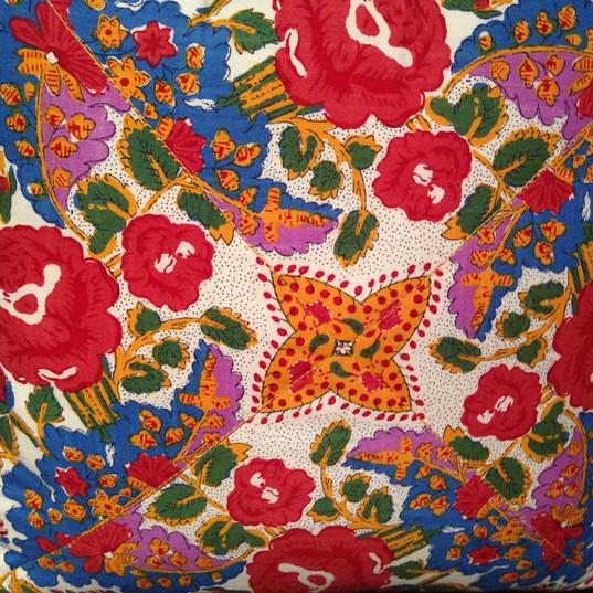 European fabric, town cabin~