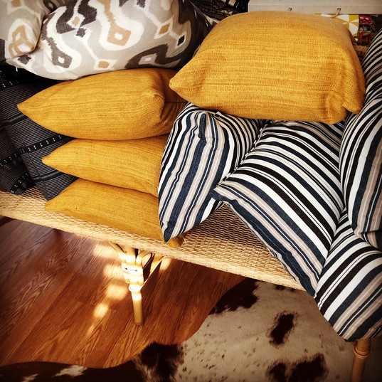Custom fabrication/fabrics/pillows for guest cabin~