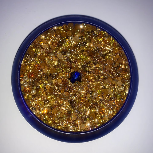 Ebony's Gold Mix Waistbead
