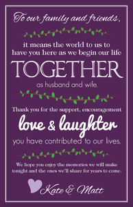 Wedding Thank You Poster