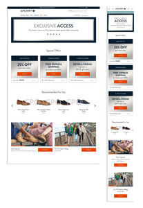 Sperry VIP Landing Page