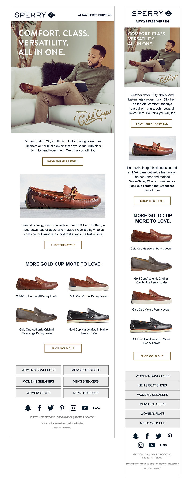 Sperry Gold Cup Essentials
