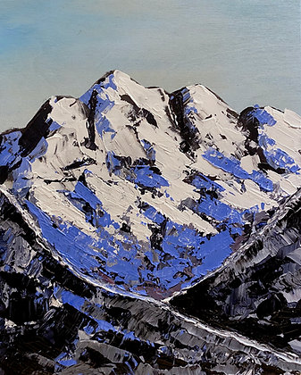 Blue Peaks (8x10 Wood Block)