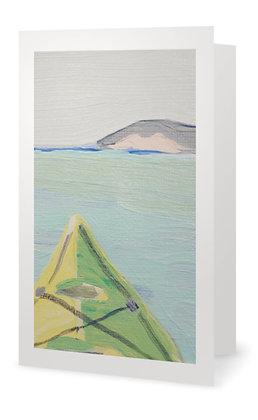 Pale Green Kayak Card