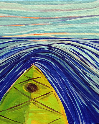 Dusk Kayak Print