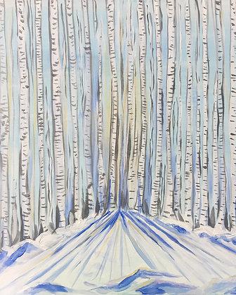 Birch Trees II Print