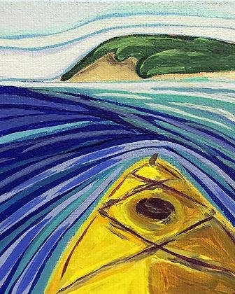 Yellow Kayak Print