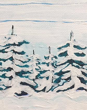Snowy Pines Print