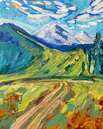 Green Mountain Print