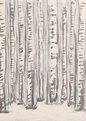 Birch Trees Print