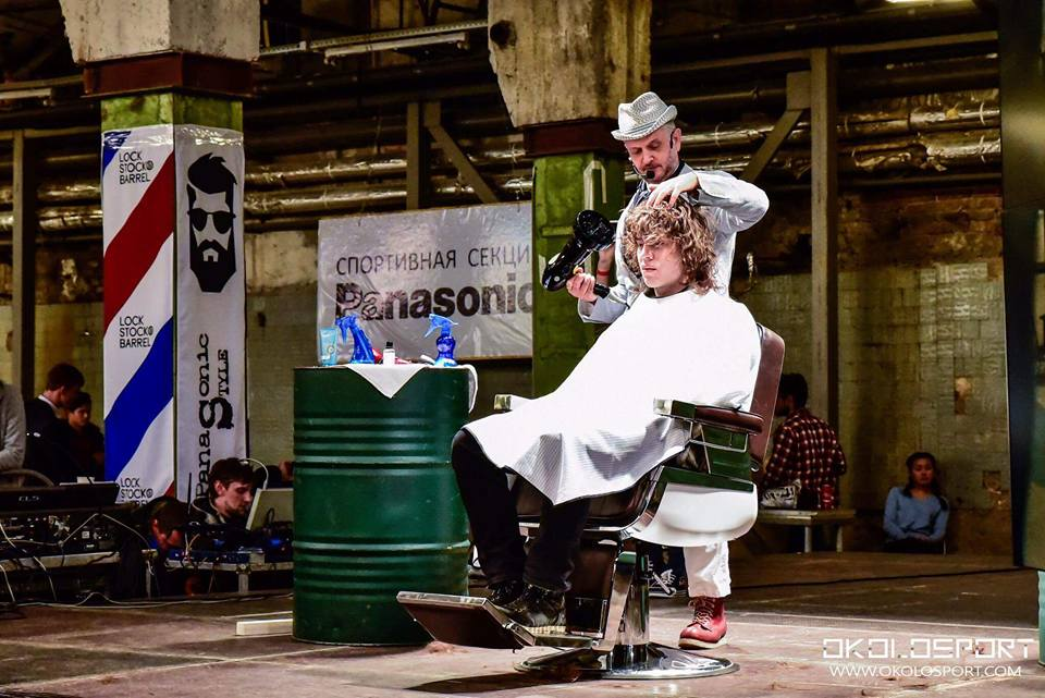 On stage at Russian Barber KIng
