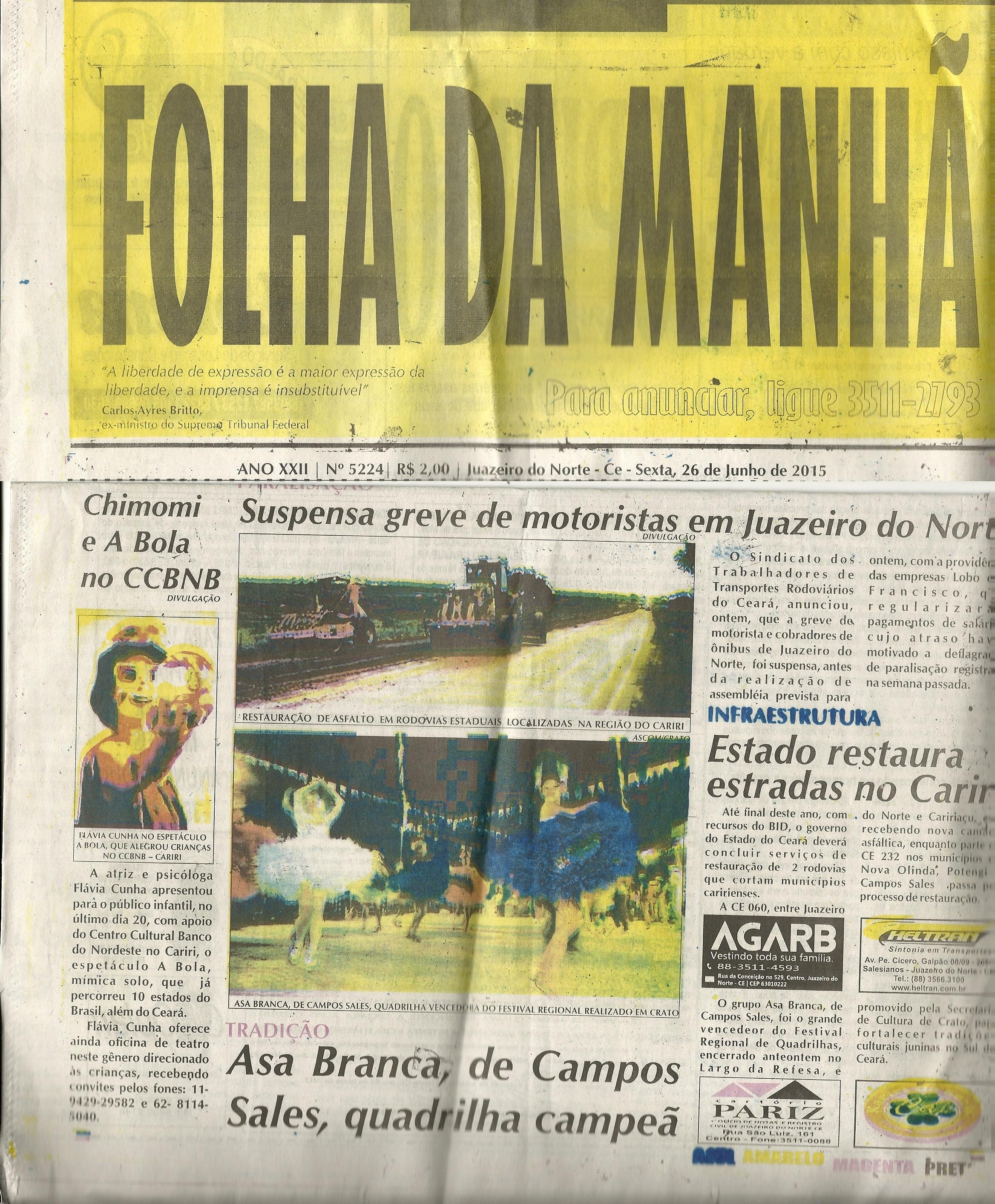 Jornal Folha da Manhã_JUAZEIRO NORTE