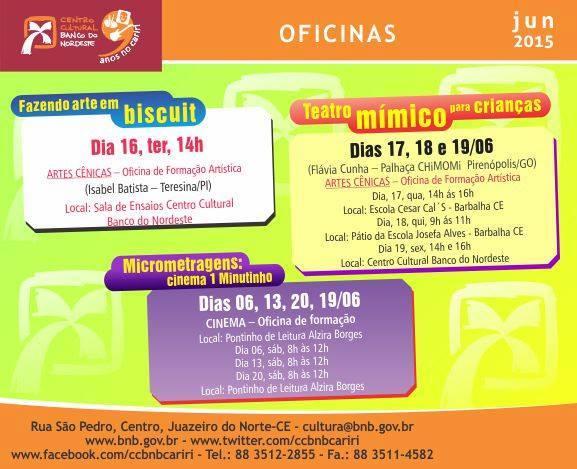 Edital BNB_Oficinas TEATRO Cariri