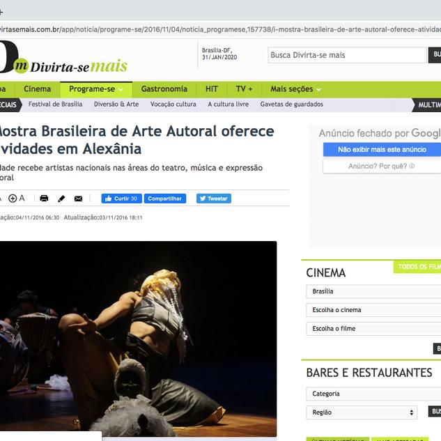 Reportagem Jornal Correio Braziliense (on line) com sobre a I MOBAA.