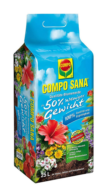 Compo Sana Potting Soil 50% Less Weight 25L
