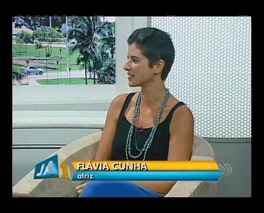 Flávia Cunha_entrevista TV GLOBO TO_