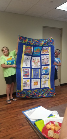 2019 Sun Fiesta Quilt Made with T Shirts