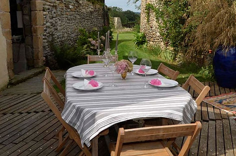 Terrasse d'été table