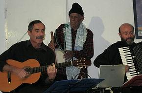 אליהו גמליאל, אשי גבע ואבינעם קולודני בערב שירי רועים - חיפה 2011