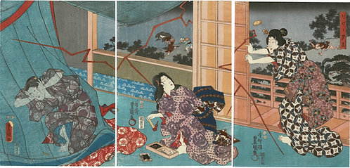 Toyokuni III - Sudden summer shower