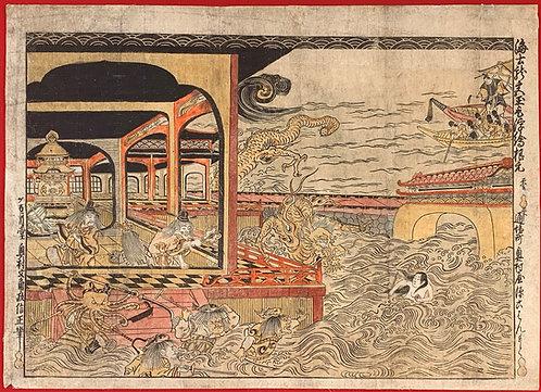 Masanobu - Retrieving the jewel from the dragon palace