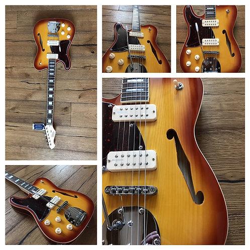 Revelation RFT-DLX Sunburst lefty guitar