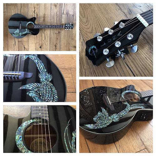 Luna Guitars Fauna Phoenix lefty - black
