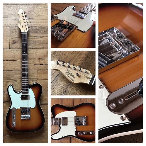 Revelation RTE Custom left-handed electric guitar in sunburst