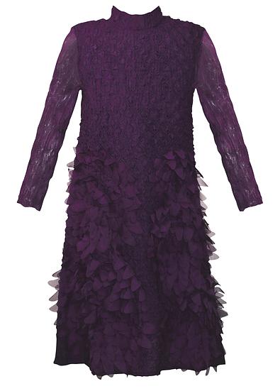 Feather Dress Purple