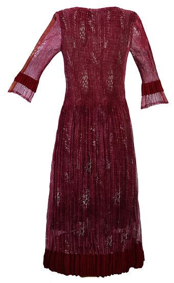 Smudge Dress Burgundy