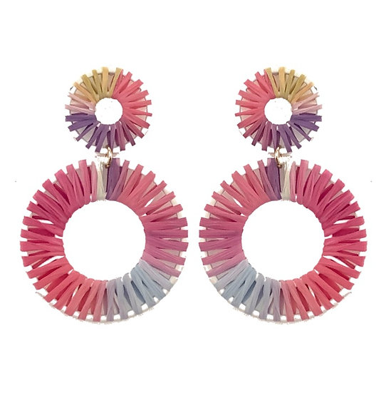Roundabout Hoops Dark Pink