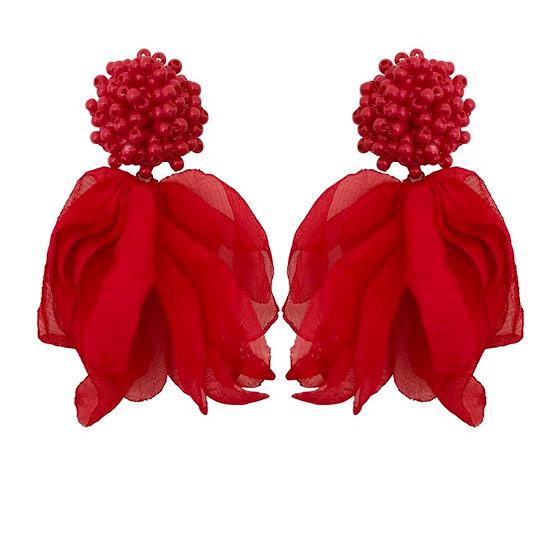 Isadora Earrings Red