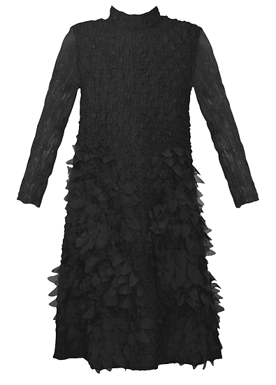 Feather Dress Black