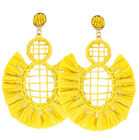 Carnival Earrings Yellow