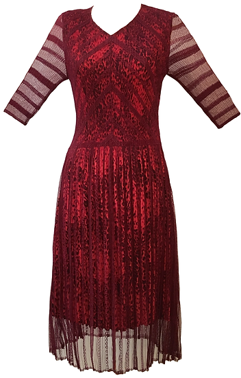 Tribe Dress Burgundy