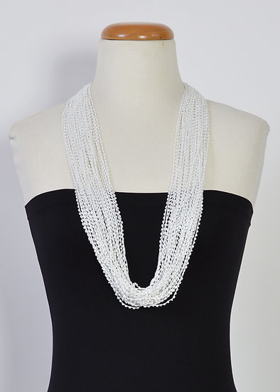 Soft Multi Strand Necklace White