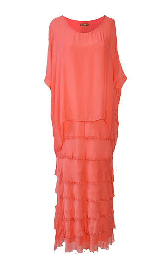 Silk Layer Dress Watermelon