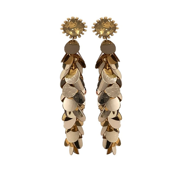 Gold Multi Drop Earrings