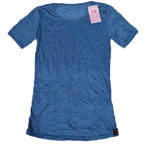 Crush Tee Mid Blue/Short Sleeves