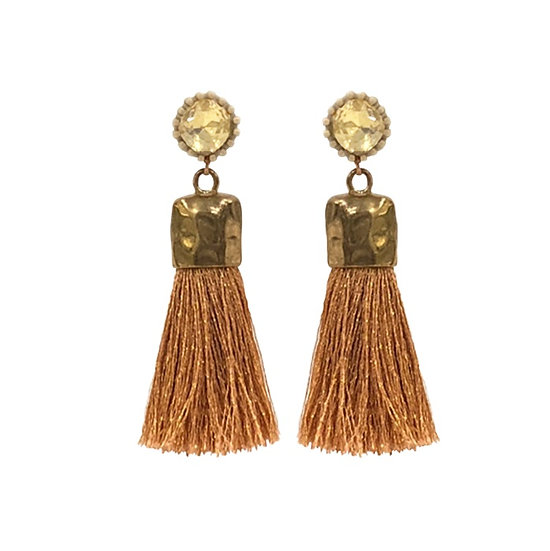 Gold Tassle  Earrings